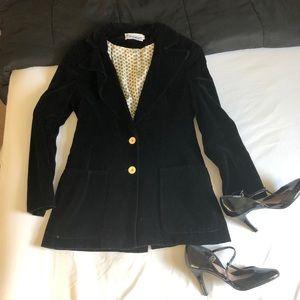 Vintage black velvet blazer